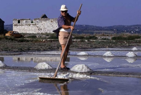 Traditional salt harvesting